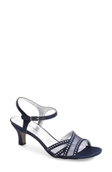 Women's David Tate 'Violet Night Out' Sandal Navy Satin
