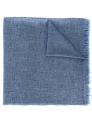 Melindagloss Frayed Edge Scarf Blue