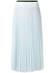 Celine Pleated Midi Skirt Blue
