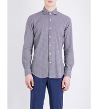 Slowear Regular Fit Checked Cotton Shirt Dk Navy