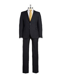 Strellson Two Piece Slim Fit Wool Suit Navy