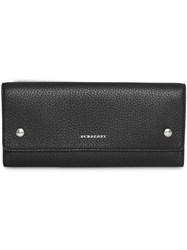 Burberry Leather Continental Wallet Black