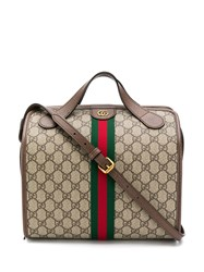 Gucci Ophidia Gg Supreme Mini Duffle Bag Neutrals