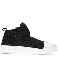 Bruno Bordese Contrast Slip On Sneakers Black