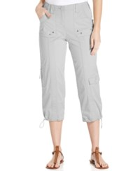 Styleandco. Style And Co. Cargo Capri Pants New City Silver