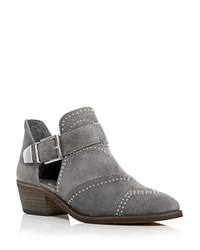 Vince Camuto Raina Studded Low Heel Booties Gray Silver