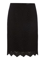 Episode Textured Lace Pencil Skirt Black