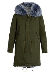 Mr And Mrs Italy Fur Lined Canvas Parka Green