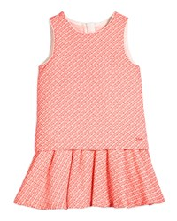 Chloe Sleeveless Fancy Tweed Fit And Flare Dress Pink