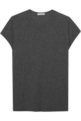 James Perse Brushed Cotton Blend Jersey T Shirt Gray