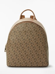 Dkny Bryant Medium Leather Backpack Chocolate