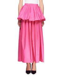 Stella Mccartney Noelle Peplum Full Skirt Pink