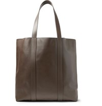 Mansur Gavriel Leather Tote Bag Chocolate