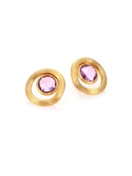 Marco Bicego Jaipur Color Amethyst And 18K Yellow Gold Stud Earrings Gold Amethyst