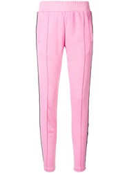 Chiara Ferragni Logomania Track Pants Pink And Purple