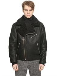 Mcq By Alexander Mcqueen Mcq Alexander Mcqueen Suede And Shearling Aviator Jacket