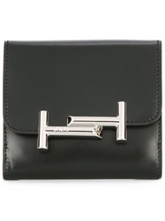 Tod's Logo Plaque Wallet Black