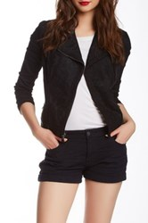 Genetic Denim Layne Moto Lace Jacket Black