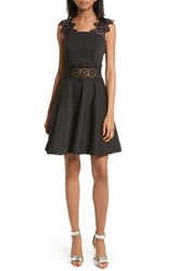 Ted Baker Women's London Monaa Fit And Flare Dress Black