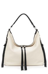 Botkier Samantha Leather Hobo Bag White Cream