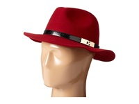 San Diego Hat Company Wfh7968 Adjustable Fedora With A Gold Buckle Garnet Fedora Hats Red