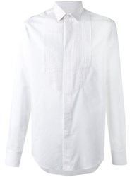 Lanvin Pleated Detail Formal Shirt White