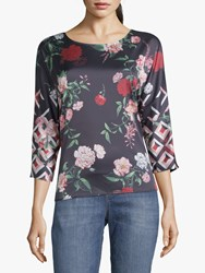 Betty And Co. Floral Blouse Black
