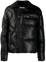 Just Cavalli Padded Biker Jacket Black