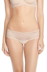 Women's Simone Perele 'Caresse' Lace Boyshorts Peau Rose