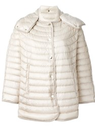 Moncler A Line Padded Jacket Nude And Neutrals