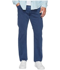 Ag Adriano Goldschmied Graduate Tailored Straight Sueded Stretch Sateen Pacific Coast Men's Casual Pants Blue