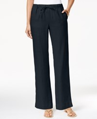 Charter Club Drawstring Waist Pull On Pants Only At Macy's Deepest Navy