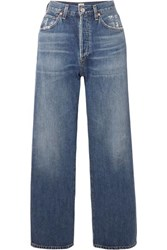 Citizens Of Humanity Joanna Cropped Mid Rise Straight Leg Jeans Mid Denim