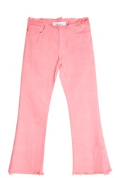 Marques Almeida Capri Frayed Jeans Pink