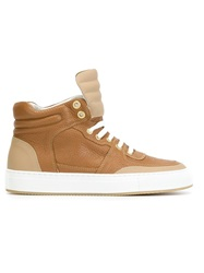 National Standard High Top Lace Up Sneakers Nude And Neutrals