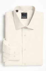 Men's Big And Tall David Donahue Regular Fit Oxford Dress Shirt Ecru