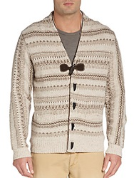 Hickey Freeman Fair Isle Toggle Cardigan Rope