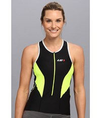 Louis Garneau Women Pro Top Black Fluro Yellow Women's Clothing