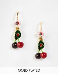 Les Nereides Cherry Drop Earrings Multi Red