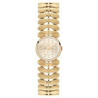 Orla Kiely Ok4022 Women's Laurel Bracelet Strap Watch Gold