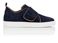 Barneys New York Women's Strap Detailed Suede Sneakers Navy