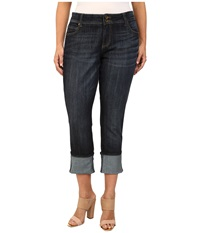Kut From The Kloth Plus Size Wide Cuff Straight Leg Jeans In Opulent Opulent Women's Jeans Pink