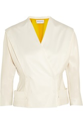 Vionnet Satin Jacket White