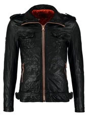 Superdry Leather Jacket Black