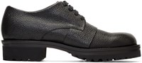 Marni Black Lace Up Derbys