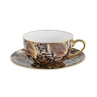 Halcyon Days Champagne Snake Breakfast Cup And Saucer