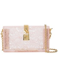 Dolce And Gabbana Box Clutch Nude And Neutrals