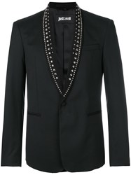 Just Cavalli Studded Collar Blazer Black