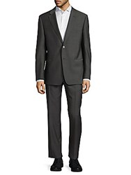 Giorgio Armani Two Button Wool Suit Grey
