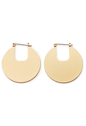 Forever 21 Cutout Disc Hoop Earrings Matte Gold